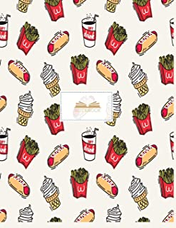 Notebook: Junk food cover and Dot pages, Extra large (8.5 x 11) inches, 110 pages, notebooks and journals (Junk food notebook,)