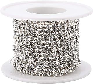 Rouleau de Chaîne en Strass Diamant Cristal DIY Chaîne Couture Artisanat Vêtements Bande Décoration Accessoires 5 Yard/Rou...