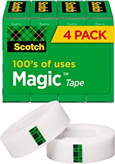 Scotch Double Sided Tape, Standard Width, Trusted Favorite, Engineered for Bonding, 3/4 x 1000 Inches, Boxed (810K4)