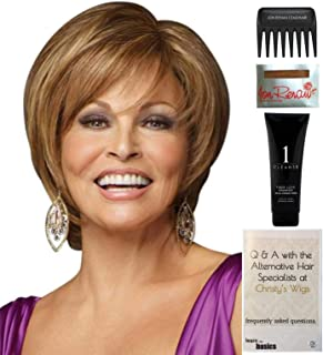 Bundle - 5 items: Opening Act by Raquel Welch Wig, Christy's Wigs Q & A Booklet, Wig Shampoo, Wig Cap & Wide Tooth Comb - Color: RL1125