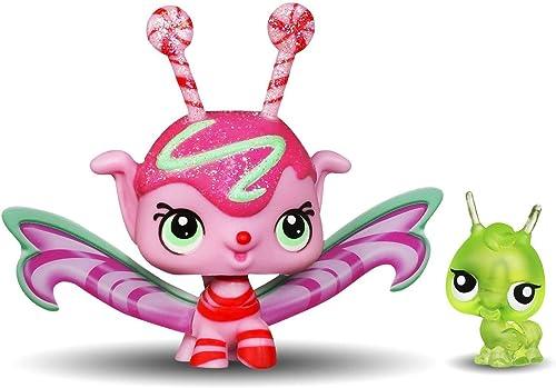 Littlest Pet Shop Fairies 2-Pack Candyswirl Dream Mint Shimmer  3047 Fairy & Grasshopper  3048