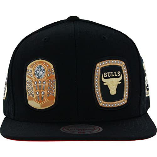 Mitchell   Ness Men s Chicago Bulls Rings Snapback Hat bc008d3087