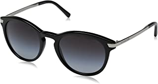 MICHAEL KORS Women's Adrianna III 316311 53 Sunglasses, Black/Lightgreygradient