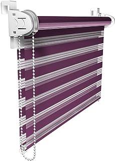 comprar comparacion Victoria M. Duo Klemmfix - Estor Doble (fijación sin perforar), Color púrpura, tamaño 55 x 150 cm