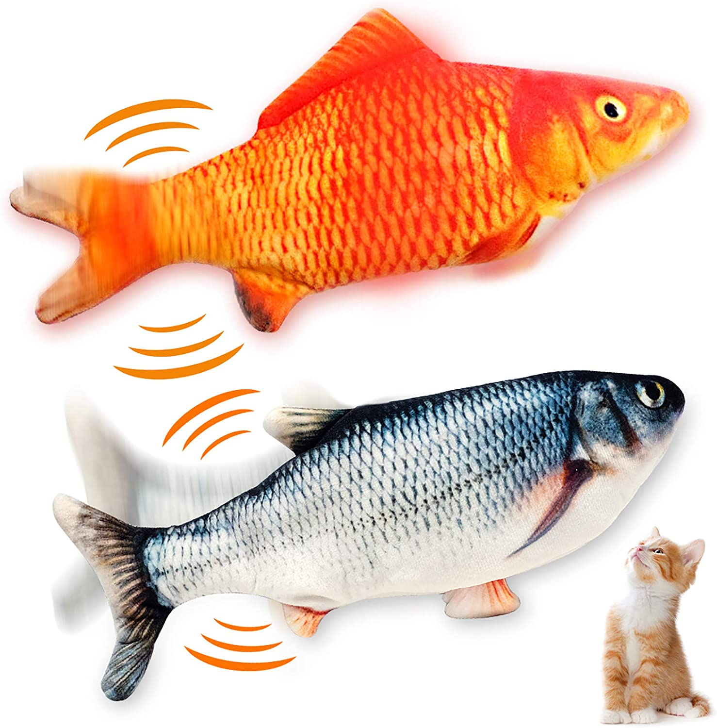 WONDAY Factory outlet Floppy Fish Cat Toy Toy-Realistic Interactive Pack Fashion 2