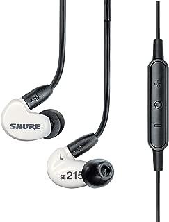 SHURE イヤホン SEシリーズ SE215m+ カナル型 高遮音性 リモート+マイク付きリケーブル ホワイト SE215m+SPE-A