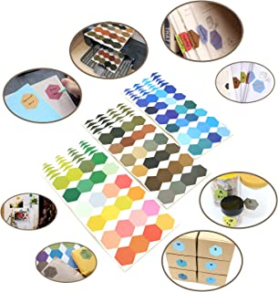 Tueascallk Hexagonal Universal Label That can be Printed and Written, for Color Coding, Index Labels, Bottle Labels, Whiteboard Stickers, Photo Stickers, Edge to Edge Width 1.2