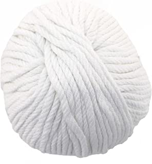 JubileeYarn Bamboo Cotton Chunky Yarn - Cotton White - 2 Skeins