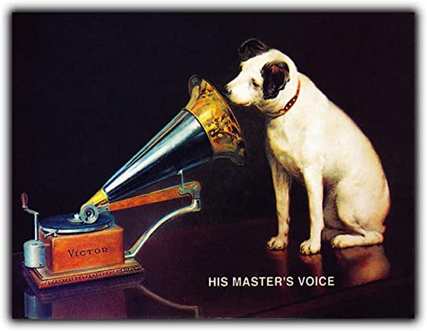 His Masters Voice Large Steel Sign Tin Wall Door Plaque Retro Opie Music Vintage Unique Home Wall Decor Tin Sign 7 87 X 11 81 XUE184