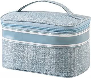Make-up tas, draagbare draagbare cosmetische tas, modieuze kleine geur aktetas make-up tas eenvoudige polyester stof draag...