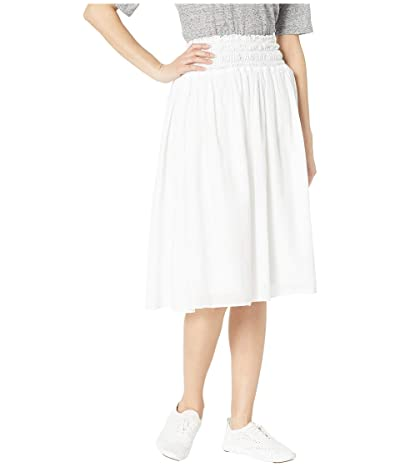 Hard Tail Smocked Waist Ballet Skirt (White) Women