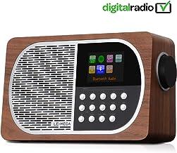 LEMEGA M2i 7W Internet portátil Dab + y Radio Digital FM con Pantalla a Color Wi-Fi, Bluetooth, USB, Aux y TFT –Nogal