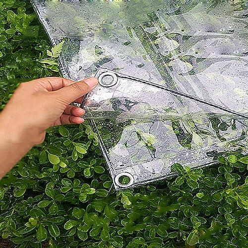 M-Y-L BacheBache en Plastique Transparent léger, Housse de remorque de Tente de Sol imperméable à l'eau pour la fenêtre de Balcon, Taille  1M × 2M,2  5m