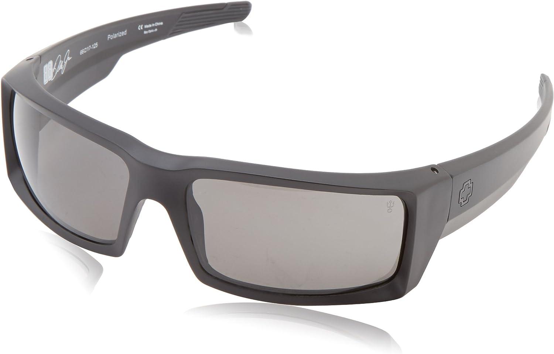 Spy Optics General Matte Black Wrap Polarized Sunglasses