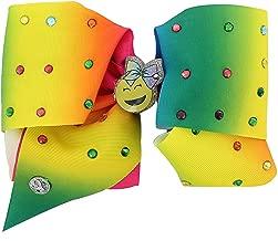 JoJo Siwa Large Cheer Bow (Rainbow Emoji)