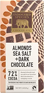 endangered species dark chocolate with sea salt and almonds