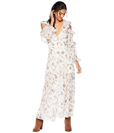 For Love and Lemons Elyse Ruffled Maxi Dress (Lurex Floral) Women
