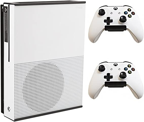 HIDEit X1S Xbox One S Wall Mount and (2) Controller Wall Mounts (Xbox One S White Bundle) - HIDEit Behind the TV or DISPLAYit - Made in the USA and Trusted Worldwide Since 2009