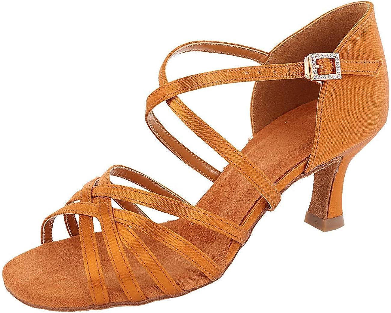 Womens Ballroom Regular dealer Dance Shoes Classic Tango Latin Salsa sale Satin Danc