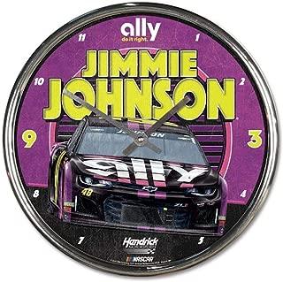Win-craft Jimmie Johnson 2019 Ally Chrome Plated NASCAR Wall Clock