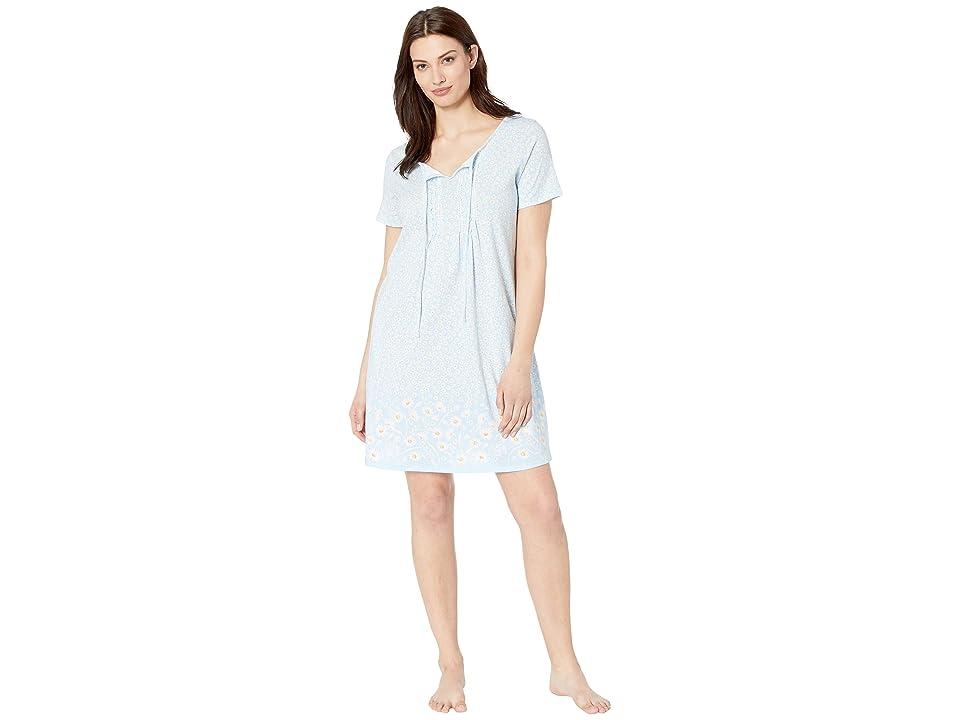 Carole Hochman Short Gown CH31701 (Blue Daisy Border) Women