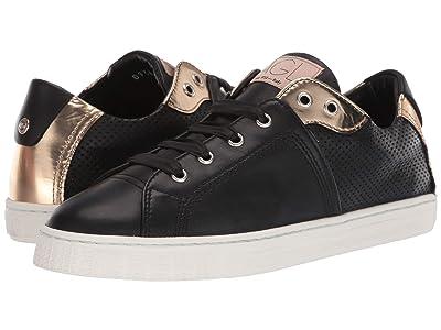 AGL Metallic Trim Sneaker (Black & Gold) Women