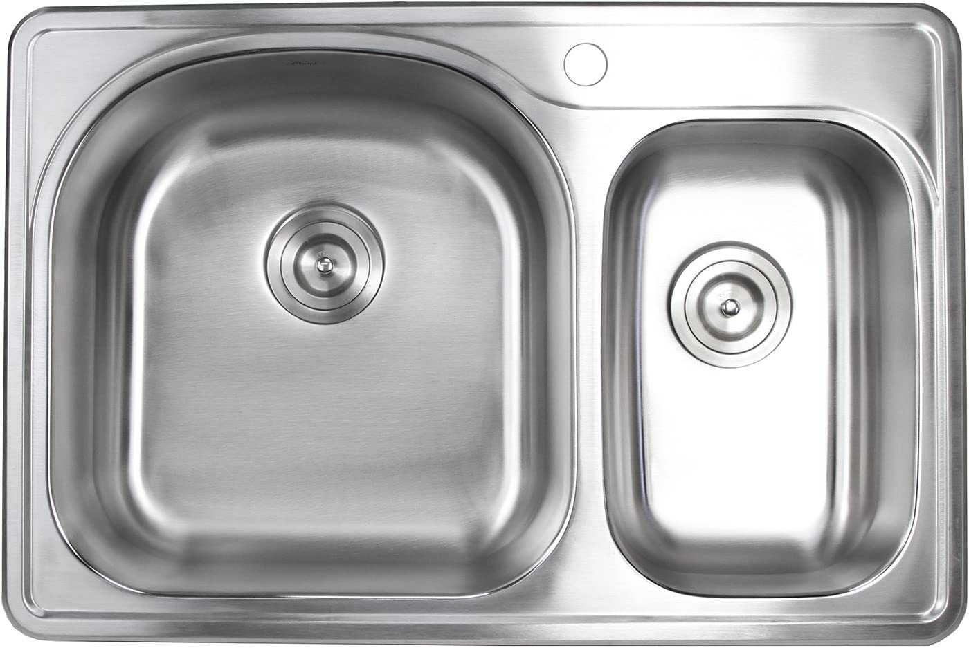 33 Inch Top-mount Drop-in Stainless Steel 30 Limited Translated time cheap sale Bowl Kitc Double 70
