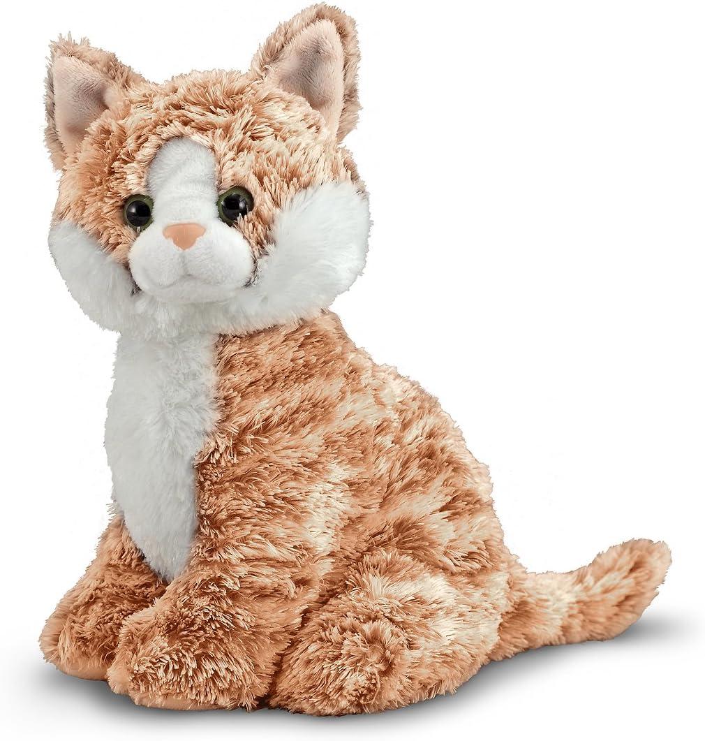 Melissa Doug Pumpkin Miami Mall Tabby Cat Animal Stuffed 2021 new -