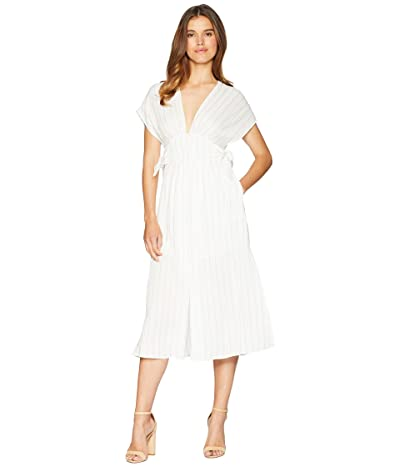ASTR the Label Sierra Dress (White Taupe Stripe) Women