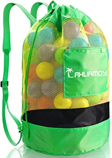 Ahlirmoy Large Beach Toys Mesh Bag, Drawstring Beach Toy Bag with Adjustable Shoulder Strap for Children and Adults, Great...