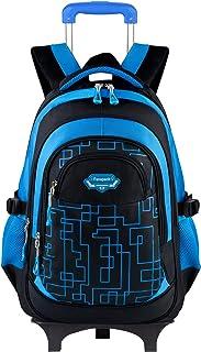 کوله پشتی مخصوص پسران ، کوله پشتی Fanspack با چرخ چرخ دستی های مدرسه چرخ دستی ، کیف های دستی کوله پشتی بچه های کوله پشتی کیف های کوله پشتی چرخدار برای مدرسه