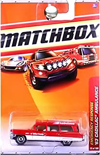 Matchbox 2010 Emergency Response 1963 Cadillac Ambulance Miller County Red