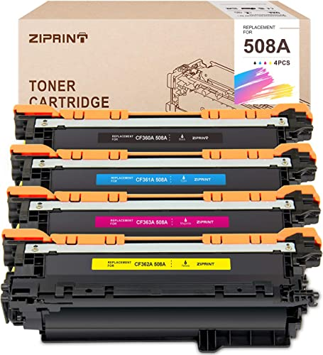 lowest ZIPRINT Compatible Toner Cartridge Replacement for HP 508A 508 CF360A use for Color Laserjet Enterprise M552dn M553 M553n M553dn M553x M577f M577dn M577z (Black high quality Cyan Yellow wholesale Magenta, 4-Pack) sale