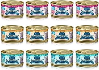 Blue Wilderness Wild Delights Grain Free Meaty Morsels Cat Food - 3 Flavors - Chicken & Trout, Chicken & Salmon, and Chicken & Turkey (12 Pack)
