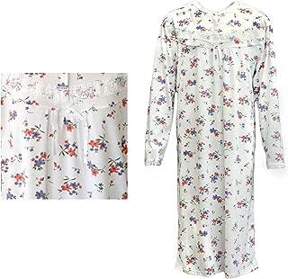 Zmart Australia 100% Cotton Women Nightie Night Gown Pajamas Pyjamas Winter Sleepwear PJs Dress