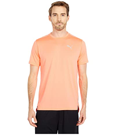 PUMA Run Laser Cat Short Sleeve Tee (NRGY Peach) Men