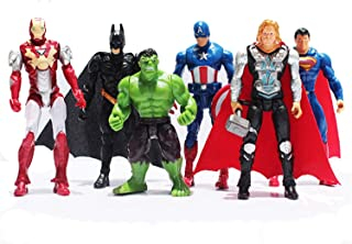 Viki Liki Super Heroes Action Figure Play Set and Cake Topper (set go 6)