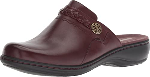 Clarks Wohommes Leisa Carly Clog, Burgundy Leather, 050 M US