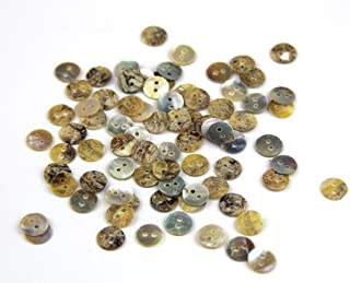 RayLineDo Pack of 2 Holes Round Favorite Findings Natural Pearl Shell Sewing Crafting Scrapbooking Buttons Agoya Buttons Approx 100pcs