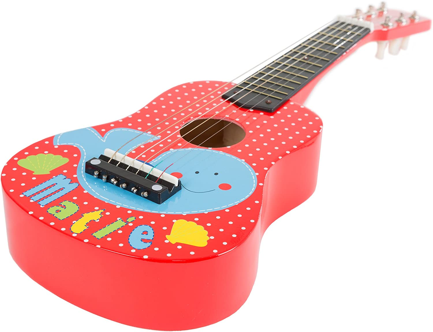 Toy Acoustic Guitar with 6 Tunable Strings and Real Musical Sounds by Hey  Play