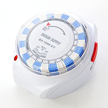 サンワダイレクト タイマーコンセント 24時間 アナログ式 15分単位 電源自動オン/オフ 700-TAP016