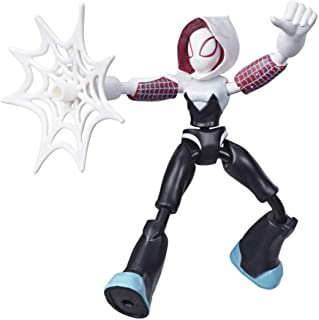 Spiderman- Bend and Flex Figura Ghost Spider 15 cm (Hasbro E76885X0)