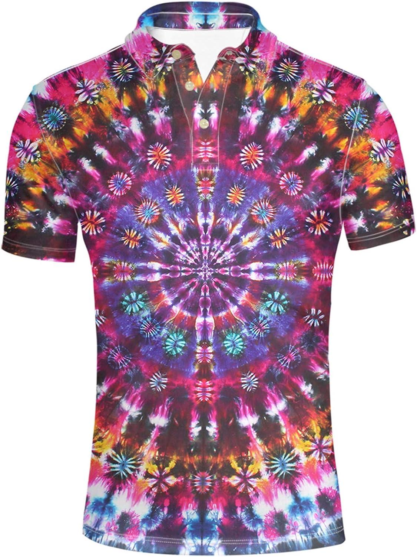 HUGS IDEA Big and Tall Classic Fit Short Sleeve Turn Down Collar Soft Hawaiian Shirts