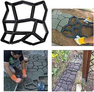 Stageya Path Maker Paving Mould DIY Reusable Patio Concrete Paving Garden Path Molds,16.5X 16.9
