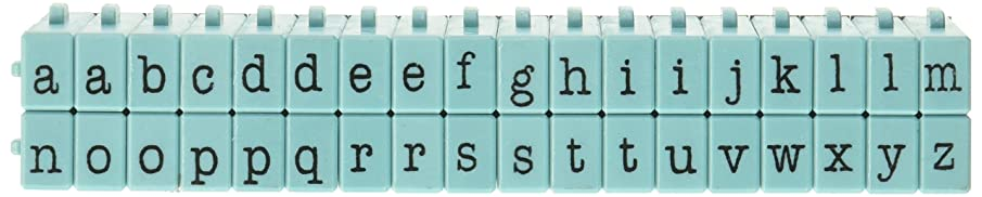 Contact USA Lower Alpha Medium 36ct Pegz Connectable Alphabet Stamp Set, Tiffany Blue