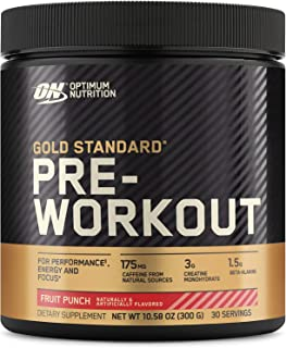 Optimum Nutrition Gold Standard Pre-Workout, Vitamin D for Immune Support, with Creatine,..