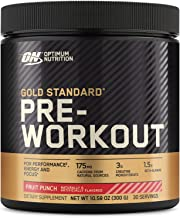 OPTIMUM NUTRITION Gold Standard Pre-Workout with Creatine, Beta-Alanine, and Caffeine for Energy, Flavor: Fruit Punch, 30 ...