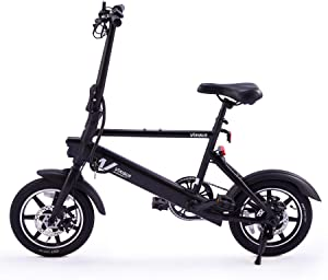 Viribus 14″ Electric Bike with Folding Pedals and Handlebar