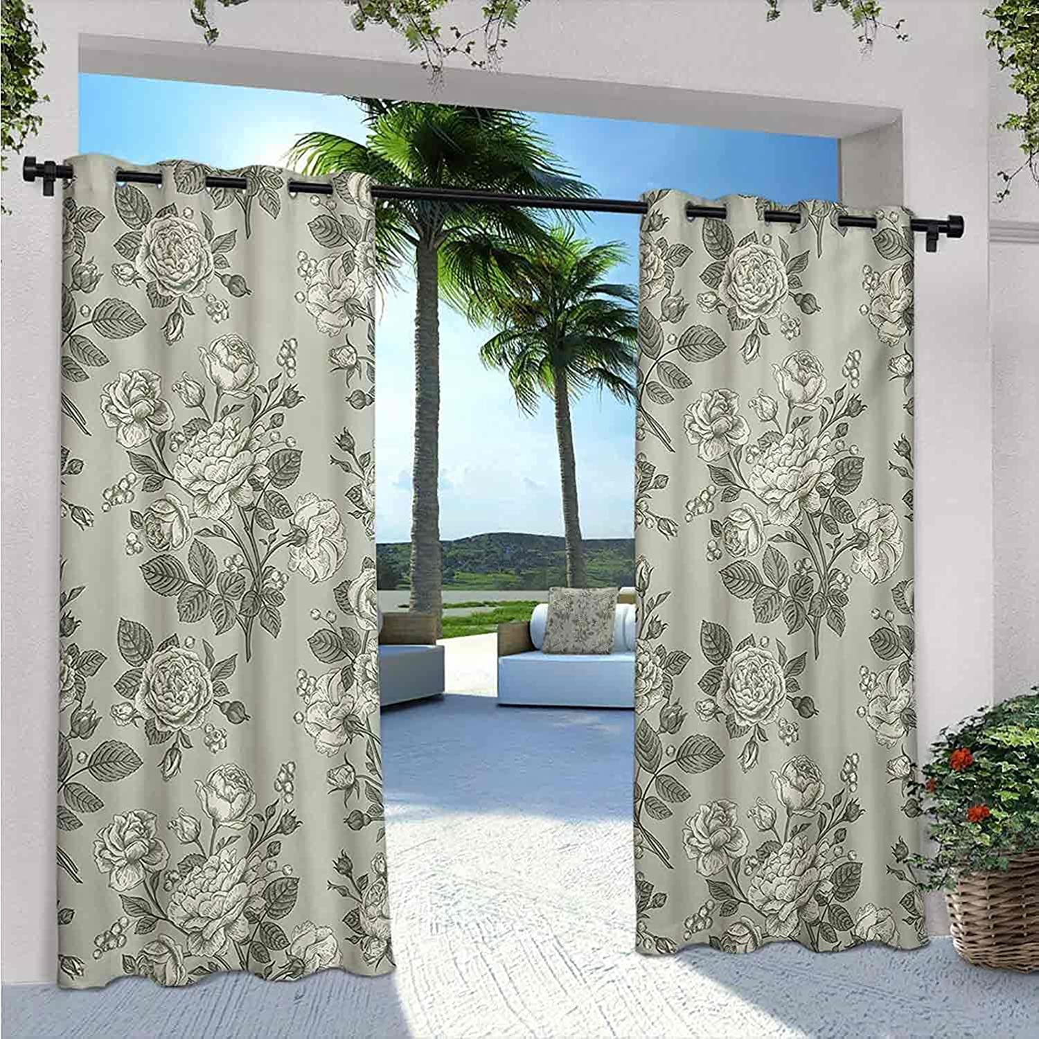 Grey Outdoor Patio Curtains Bamboo Leaves Tree Long Beach Popular products Mall Sketchy Base Zen