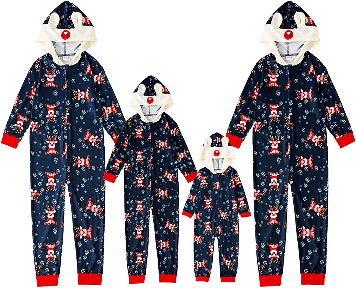 Christmas Pajamas for Max 46% OFF Family service Onesie Romper One P Jumpsuit Zipper